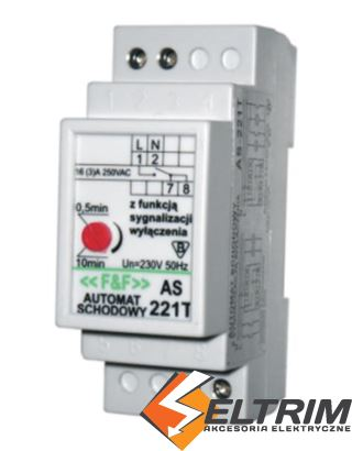 F AUTOMAT SCHODOWY AS-221T 230V 10A $